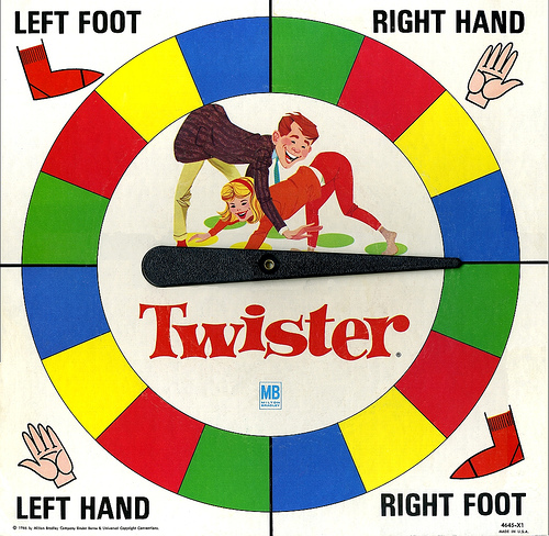 Sexy Body Part Twister Spinner 1